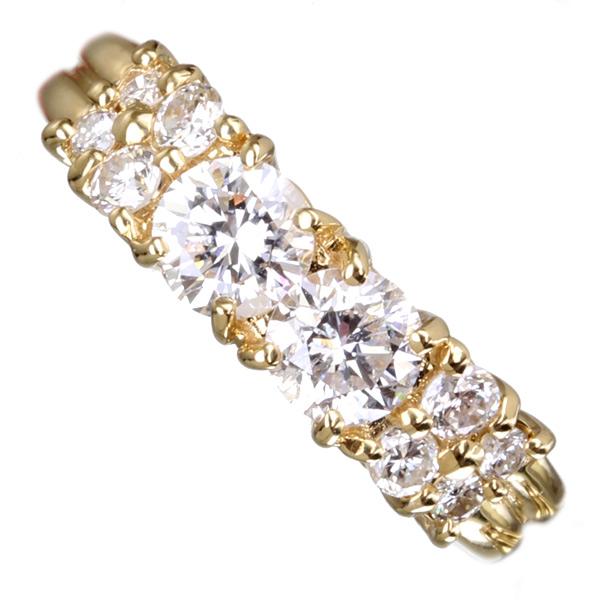 【特別価格】K18PG/WG/YG total 1.76ct ダイヤモンド パヴェリング