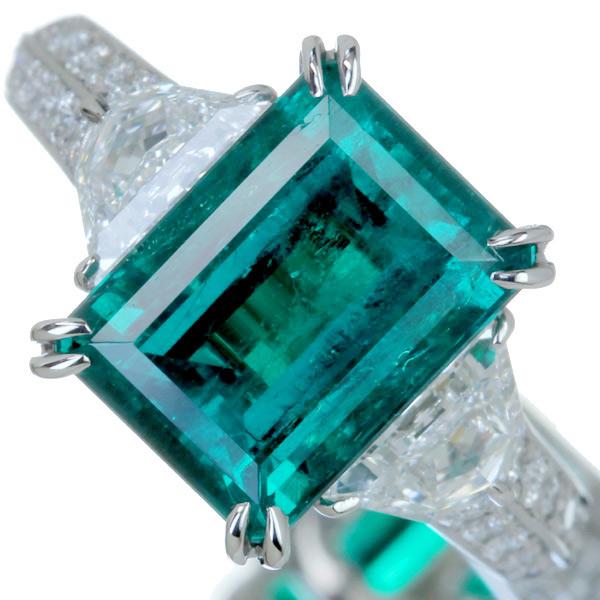 PT900 0.87ct サファイア リング 0.36ct ダイヤモンド