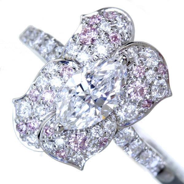 【日替わり大特価】PT900  2.16ctウォーターオパール リング 0.51ctダイヤモンド