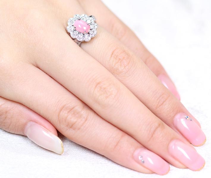 ジュエリー通販ジュエルプラネット コンクパール リング 1.45ct/ダイヤモンド 1.01ct PT900