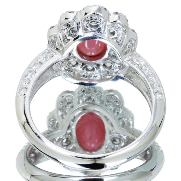 ジュエリー通販ジュエルプラネット コンクパール リング 1.45ct/ダイヤモンド 1.01ct PT900コンクパール リング 1.45ct/ダイヤモンド 1.01ct PT900
