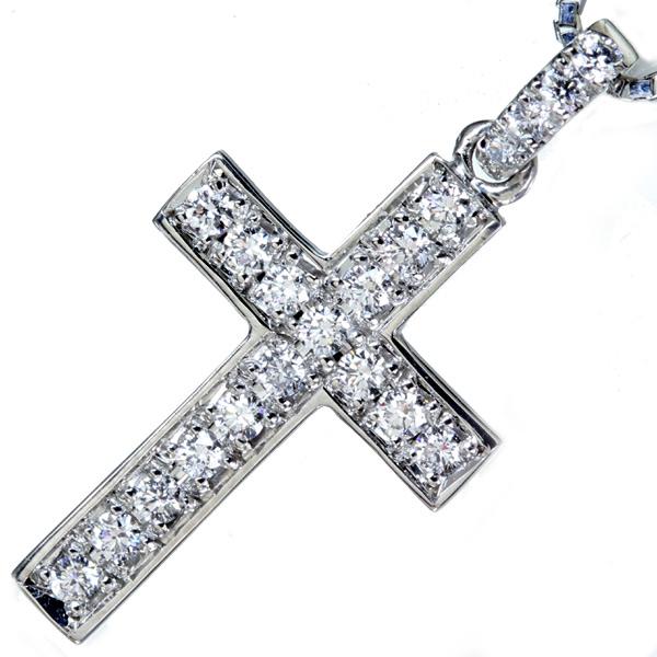 ジュエリー通販ジュエルプラネット ダイヤモンド クロスモチーフ ネックレス ダイヤモンド クロスモチーフ ネックレス