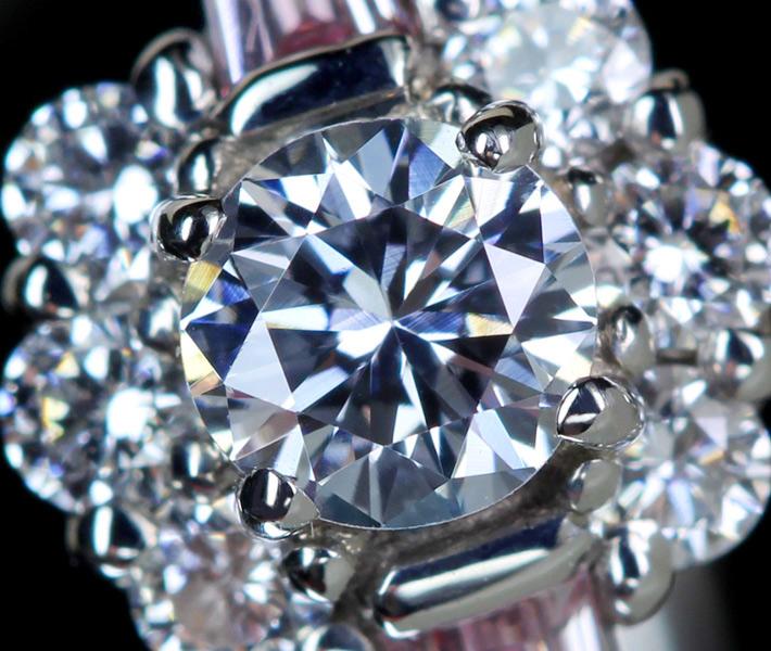 ジュエリー通販ジュエルプラネット ブルーダイヤモンド 0.190ct LIGHT BLUE VS1 リング/ダイヤモンド 0.11ct PT950
