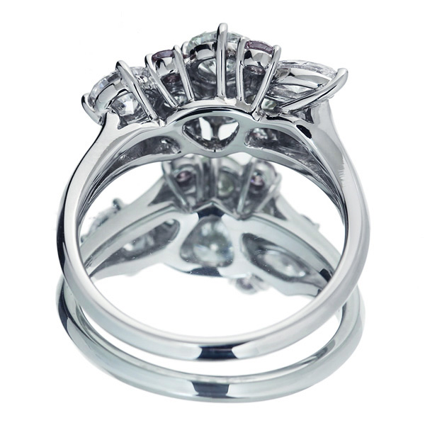 ジュエリー通販ジュエルプラネット 【HANDMADE】ピンクダイヤモンド 0.043ct FANCY INTENSE PINK VS-2/0.039ct FANCY INTENSE PINK SI-1/0.034ctt FANCY INTENSE PI