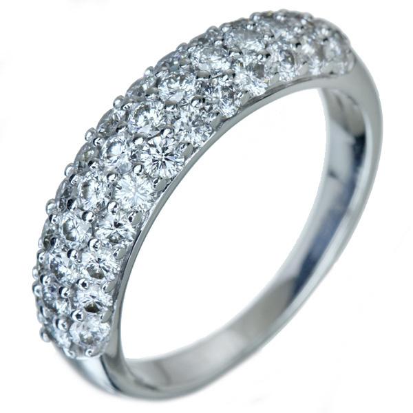 K18WG ダイヤモンド 1.0ct H&C パヴェリング ※H&C鑑別書付・スコープ付