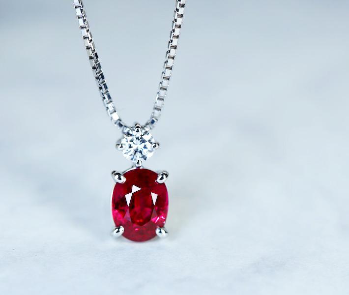 【特別価格】【TASAKI】ルビー 1.37ct ネックレス ダイヤモンド 0.11ct PT900/PT850