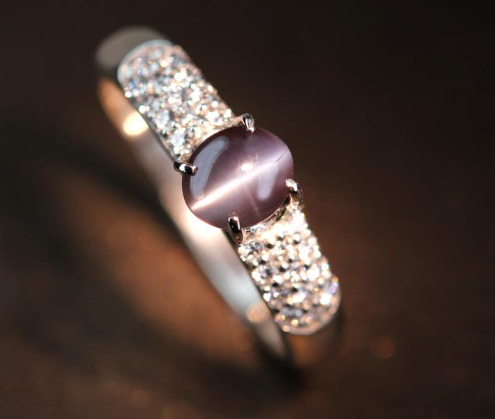 【新作!!】PT900 アレキサンドライト リング 1.154ct ダイヤモンド 0.23ct【一点物】