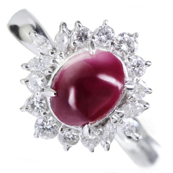 【販売代行】PT900 ルビー リング 3.18ct ダイヤモンド 0.67ct【返品不可】