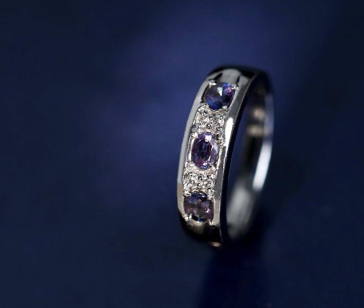 【特別価格】アレキサンドライト リング 0.48ct ダイヤモンド 0.06ct PT900【早い者勝ち!!!】