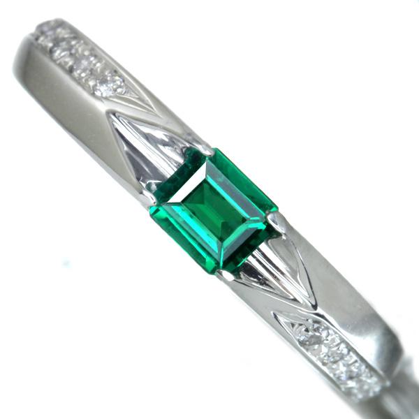 【販売代行】P900 エメラルド 0.20ct リング ダイヤモンド 0.05ct 【返品不可】
