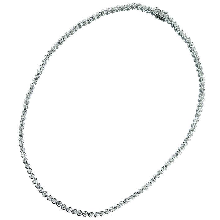 【販売代行】K18WG ダイヤモンド 2.0ct テニスネックレス【返品不可】