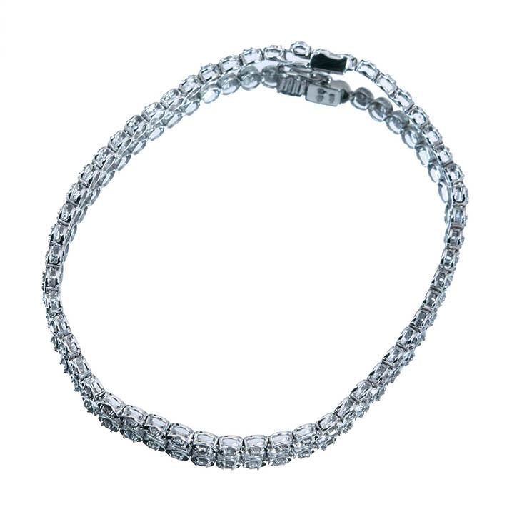 【販売代行】K18WG ダイヤモンド 1.0ct テニスブレスレット【返品不可】
