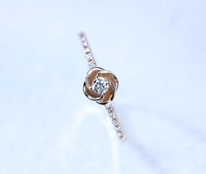 K18 ダイヤモンド0.13ct リング