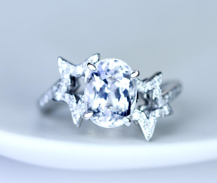 【新作】PT900 アクロアイトトルマリン 2.24ct リング ダイヤモンド 0.172ct