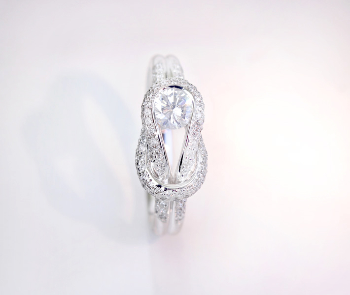 Pt900 ダイヤモンド0.36ct ダイヤモンド0.37ct リング