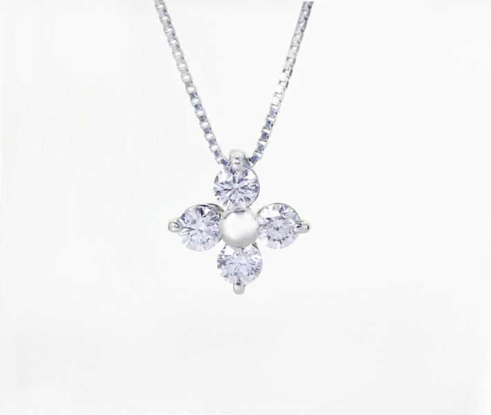 【特別価格】Pt900 ダイヤモンド 0.504ct ペンダントネックレス