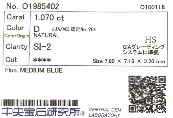 ジュエリー通販ジュエルプラネット 1ct ハートシェイプ ダイヤモンド カラーレス Dカラー