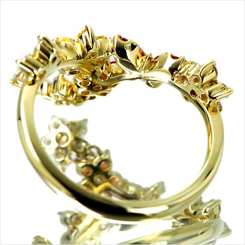 ジュエリー通販ジュエルプラネットイエローオレンジサファイア指輪